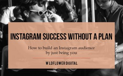 Instagram Success Without a Plan – How to build an Instagram audience just by being you