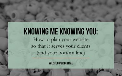 Knowing Me Knowing You: How to plan your website so that it serves your clients (and your bottom line)